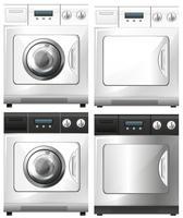 Machine à laver et sèche linge vecteur