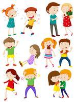 Enfants avec différentes émotions