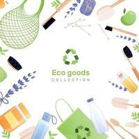illustration vectorielle de composition de fond plat de produits écologiques vecteur