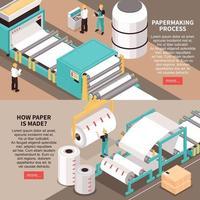illustration vectorielle de bannières d'usine de papier vecteur