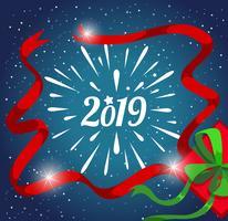 Modèle de carte de bonne année