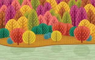 paysage de saison d'automne vecteur