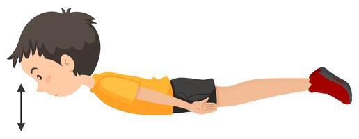 Un exercice de musculation pour garçon