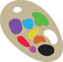 palette de peinture d'artiste. outils utilisés par les graphiques vectoriels de l'artiste. vecteur