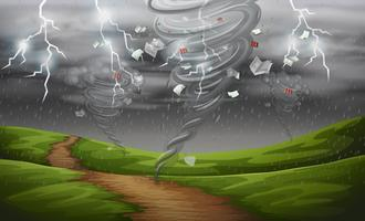 Cyclone dans la nature vecteur
