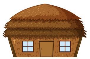 Une maison sur fond blanc vecteur