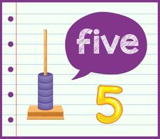 compter jusqu'à cinq concept vecteur