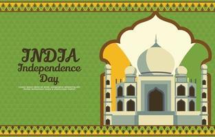 fond de célébration de la fête de l'indépendance indienne vecteur
