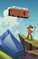 un grimpeur profitant de la vue sur la vallée vecteur