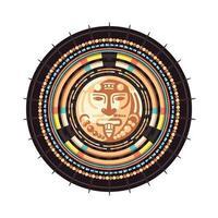 illustration vectorielle emblème de la civilisation maya vecteur