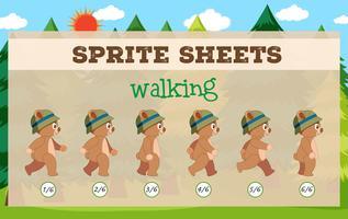 Modèle de jeu de feuilles de Sprite