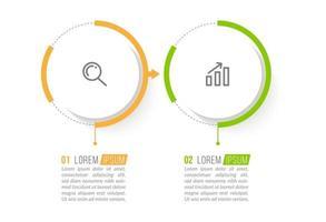 concept d'entreprise avec 2 options ou étapes vecteur
