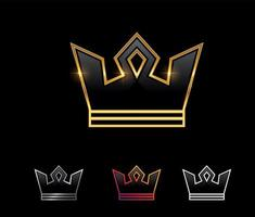 signe de vecteur de couronne royale d'or