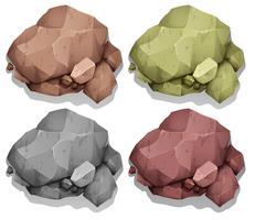 Couleur différente des roches naturelles