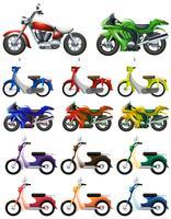 Différents types de motos