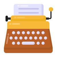 télécopieur et machine à écrire vecteur