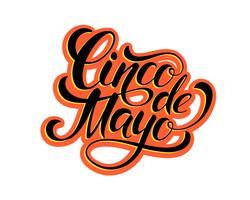 Conception de lettrage Cinco de Mayo. vecteur