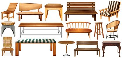 Ensemble de meubles vecteur