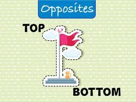 Wordcard opposée pour le haut et le bas