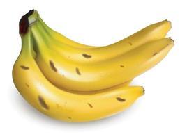 tas de bananes mûres isolé sur fond blanc. vecteur eps 10