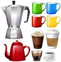 Tasses et tasses différentes vecteur