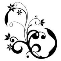 silhouette florale pour graver et découper des motifs vecteur