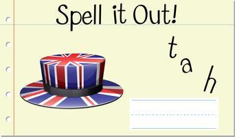 Épeler mot anglais chapeau