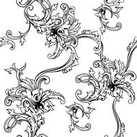 Fond vectorielle continue Modèle baroque.
