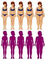Un ensemble de silhouette de corps de femme vecteur