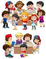 Enfants apprenant à l'école