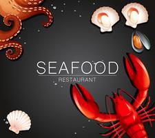 Bannière de restaurant de fruits de mer