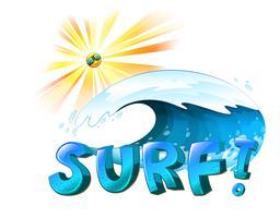 Oeuvre de surf vecteur