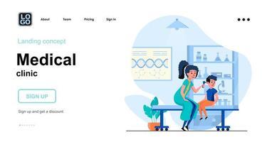 concept web de clinique médicale vecteur