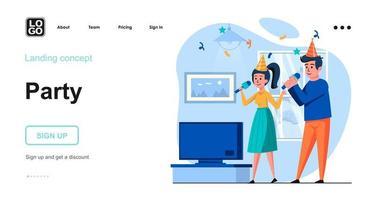 concept web de fête vecteur
