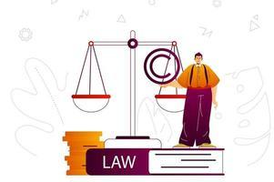 concept web de société d'avocats vecteur