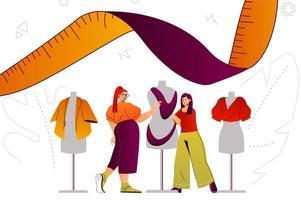 concept web de studio de créateur de vêtements vecteur