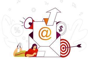 concept web de marketing par courrier électronique vecteur