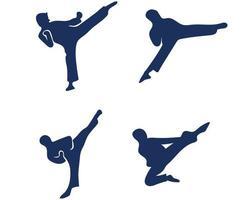 ensembles taekwondo sport design 2020 jeux résumé vecteur symboles icônes