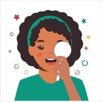 bilan de vision des enfants en clinique ophtalmologique. contrôle optométriste vecteur