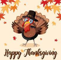 Modèle de dinde de joyeux thanksgiving