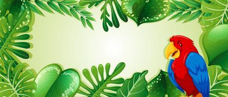 Perroquet dans la jungle vecteur