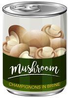 Une boîte de champignons