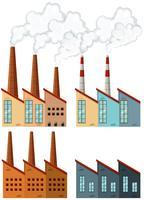 Bâtiments d'usine avec cheminées vecteur