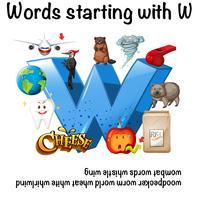 Mots français commençant par W illustration vecteur