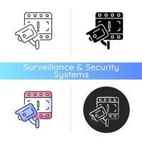 Caméra de vidéosurveillance aubaine pour l'icône d'enquête vecteur