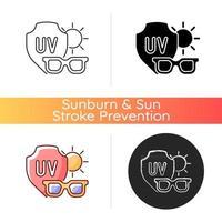 icône de vecteur de lunettes de soleil