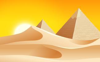 Un paysage désertique chaud vecteur