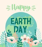 Jour de la Terre. Conception de vecteur.