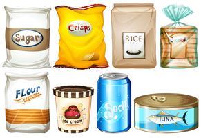 Différents types d'aliments vecteur