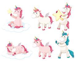 Ensemble de personnage de licorne